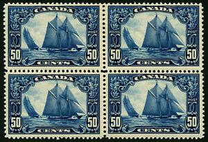 Canada #518 1929 50c Bluenose Schooner Block of 4 VF Mint N.H. (2020 SCV $1,700)