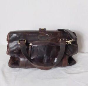 Rowallan Brown Distressed Leather Bag Unisex