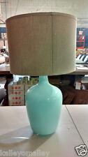 New Birch Lane Brookeway Table Lamp with Khaki Shade, Light Blue