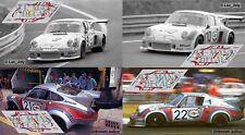 Decals Porsche 911 RSR Turbo Le Mans 1974 1:32 1:43 1:24 1:18 slot test calcas