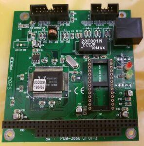 Advantech GEM PC/104 Ethernet Card PCM-3660 C1 01/2 - RJ45 & AUI