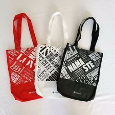 Lululemon Reusable Shopping HOLIDAY Gift Bags Lunch Tote 3 Small / 3 Colors NEW!