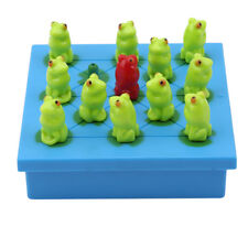 Brain Gamen Children Game Toy Teaching Big Chessboard Plastic Frog Checkers LA