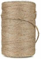 10m-1000M Metre Natural Brown Shabby Rustic Twine String Shank Craft Jute