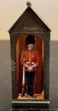 Super Rare Sampson Mordan Sterling Silver & Enamel Sentry Match Box London 1895
