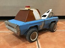 Vintage Buddy L Police Wrecker Tow Truck Pressed Steel 1970s Rare Original