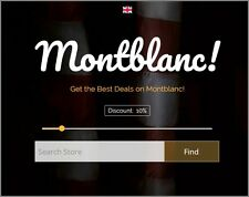 MONTBLANC ITEMS  Website Earn $680 A SALE|FREE Domain|FREE Hosting|FREE Traffiic