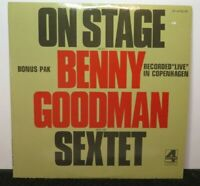BENNY GOODMAN SEXTET ON STAGE (NM) BP-44182/83 LP VINYL RECORD