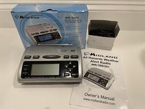 Midland WR300 NOAA Weather Channels Clock & Alarm w/ FM/AM Radio