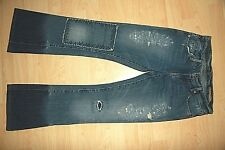 CHIP & PEPPER Backwoods Patch Destroyed Flare Cute Medium Wash Womens Jeans 25