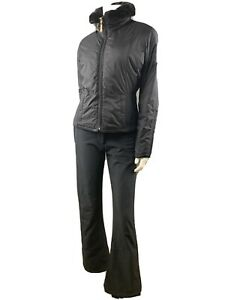 Prwowned Obermeyer Ski Weat Pants And Jacket SZ 6 Black Slim