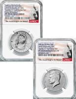 2019-S 50C 2-Coin Kennedy Half Dollar Set Apollo 11 NGC PF70