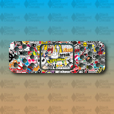"Band Aid Sticker Bomb Dent Cover Funny 6"" Euro Custom Vinyl Decal Sticker JDM"