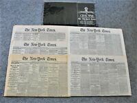 New York Times Reproduction Newspapers Civil War Commemorative 5 Editions.