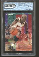 1995-96 Michael Jordan Fleer #22 Gem Mint 10 Chicago Bulls