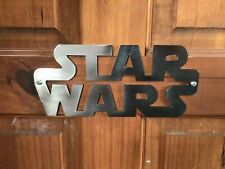STAR WARS Logo Children's Wall Or Bedroom Door Sign Polished Steel