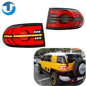 LED Tail Light For 2007-2014 TOYOTA FJ CRUISER Indicator sequential Rear (Clear)