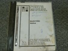 Hyster Model R25a Electric Forklift Lift Truck Parts Catalog Manual Book