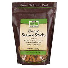 NOW Foods Garlic Sesame Sticks, 9 oz.
