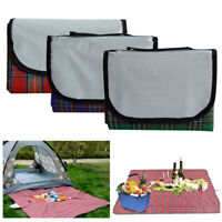 """Waterproof Outdoor Picnic Blanket Tote f/ Camping Hiking Grass Travelling 79x59"""""""