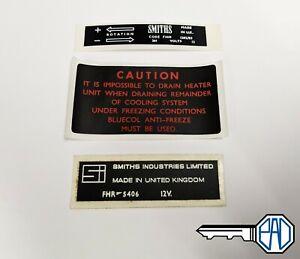 MG MGB, Midget, MGC Heater Sticker Set LMG1010K