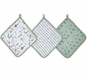 aden + anais essentials dinotime 3 pack muslin washcloths