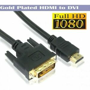1M HDMI Male to DVI-D 24+1 Male Gold Adapter Converter Cable For HDTV/DVD