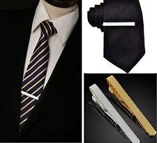 1 X Fashion Silver Gold Men Necktie Tie Bar Clasp Clip Cufflinks Set Accessory Y