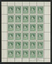 NEW GUINEA 1937  CORONATION 5d GREEN FULL SHEET x30 MNH + RE-ENTRY VARIETY
