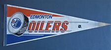 "EDMONTON OILERS PENNANT 12"" x 30"" NEW NHL FREE US SHIPPING"