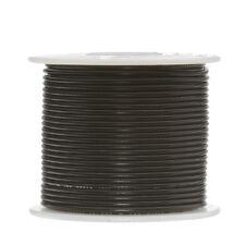 """20 AWG Gauge Stranded Hook Up Wire Black 100 ft 0.0320"""" PTFE 600 Volts"""