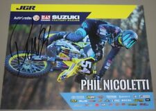 2018 Phil Nicoletti signed Joe Gibbs Racing Suzuki Supercross Motocross postcard