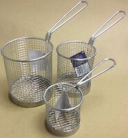Grunwerg Stainless Steel Mini Pasta Chip Frying Serving Basket