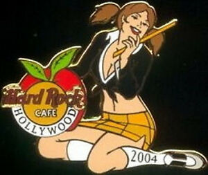 Hard Rock Cafe HOLLYWOOD 2004 TEACHER CONVENTION PIN Sexy Girl Apple HRC #20974