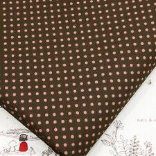 100% Cotton Fabric FQ 3mm Classic Polka Dot Circle Spot Vintage Retro Print VA36
