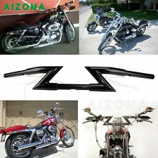 1'' Motorcycle Crazy Z Bars Handlebar For Harley Chopper Sportster Dyna Clubman