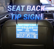 Uber Lyft Tip Sign Backseat Ridshare Blue Box Car Logo Decal  Sticker Magnet