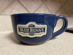 SUNSET HILL STONE WARE OVERSIZED BLUE BUNNY MUG~RARE!
