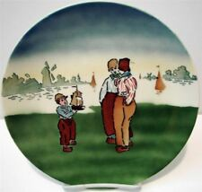 Vtg W St Prussia Vintage Hand Painted Dutch Holland Plate Majolica Before 1940