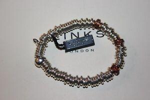 Original Links of London 25 Jahre Sterlingsilber Schätzchen Rot Granat Armband