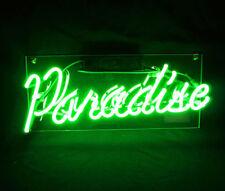New Green Paradise Beer Bar Wall Decor Acrylic Back  Lamp Light Neon Sign 14''