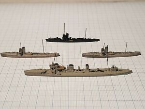 Neptun/Rhenania Torpedo boats 68/V100 Minesweeper 26 German WWI waterline 1/1250