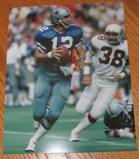 Roger Staubach Dallas Cowboys unsigned 8x10 photo NFL HOF