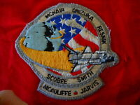NASA Space Shuttle Challenger Vintage Patch McNair Smith Scobee McAuliff