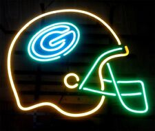 "New Green Bay Packers Helmet Neon Light Sign 24""x20"" Beer Gift Bar Real Glass"