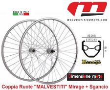 """9030 -Coppia Ruote """"MALVESTITI"""" Mirage 6/7/8-Velocità per Bici 28"""" Corsa Vintage"""