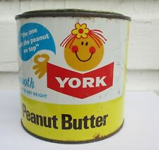 VINTAGE 48 OZ  YORK PEANUT BUTTER TIN/CAN CANADA PACKERS  TORONTO