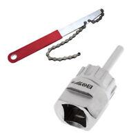 Bike Freewheel Wrench Chain Whip Cassette Sprocket Remover + Lockring Tool