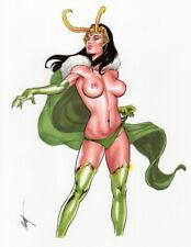 Lady Loki! Original Art by MC Wyman