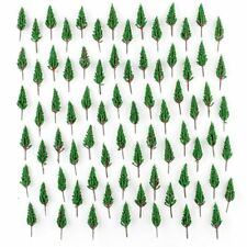 100 pcs Model Green Pine Trees Model Train Trees for N Z scale scene 58mm